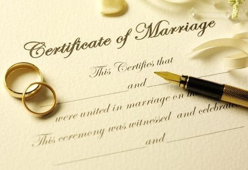 سند ازدواج به انگلیسی