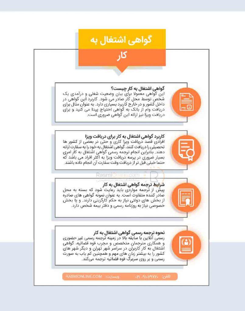 روند ترجمه گواهی اشتغال به کار